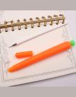 1 SZTUK Twórczej Uroczy Czarny Wkład Neutralne Pióra Długopisy Żelowe Uczeń Piśmienne Koreański Spersonalizowane Podpis Marchew