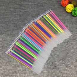 12 24 36 48 Kolory/Zestaw Flash Ballpint Długopis Żelowy Atrakcją Uzupełniania Koloru Pełne Shinning Refill Malarstwo Pen Drawin