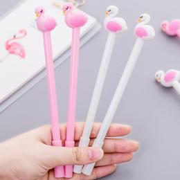 Słodkie Piękne Flamingo łabędzie długopis żelowy Kawaii biurowe długopisy materiał biuro szkolne Pisanie narzędzia
