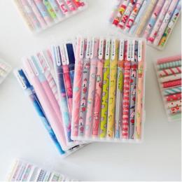 10 sztuk 6 sztuk Kolorowe kwiat Chancery długopis Żelowy Biurowe stacjonarne kawaii szkolne canetas Uroczy długopis lapices kawa