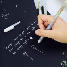0.8mm Biały Tusz Kolorowy Album Gel Pen Stationery Office Nauka Uroczy Długopis Unisex Długopis Prezent Dla Dzieci