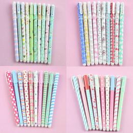 10 sztuk Kolor Pióra Długopisy Żelowe Kawaii Długopis Boligrafos Kawaii Canetas Escolar Śliczne Koreański Piśmienne