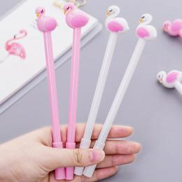 Różowy Kolor Flamingi Shell Gel Pen DIY Materiały Biurowe i Artykuły szkolne Smooth Pisanie Czarny i Niebieski Tusz 0.5mm Długop