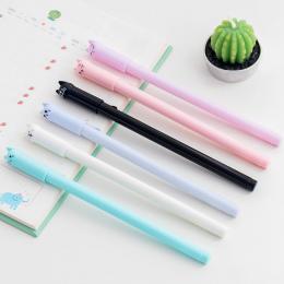 1 pc Loveble Kot Projekt Gel Pen 0.5mm Indywidualnie Piśmienne Student Pen Pełne Igły Black Ink Pen Szkoła Biuro dostawy