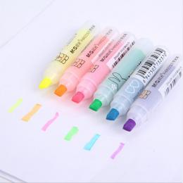 6 sztuk/zestaw DIY Królik Mini Pióra Wyróżnienia Marker Długopisy Kawaii Biurowe Materiał Escolar Szkolne Papelaria Dla Dzieci P