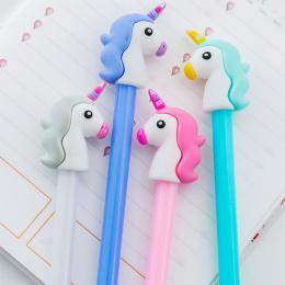 0.5mm Kreatywny Jednorożec Flamingi Żel Długopis Pióro Podpis Escolar Papelaria Szkolne Materiały Biurowe Dostaw Upominek promoc