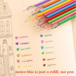 12 sztuk/zestaw Piękne Piśmienne Diament 12 Kolory Gel Refill Biuro Papiernicze Szkolne Multicolor Korea Długopisy Dla Dzieci
