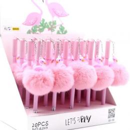 0.5mm Flamingo Ciepłe Pluszowa Piłka Wisiorek Żel Pióra Atramentu Promocyjne Prezent Papiernicze Szkolne i Biurowe