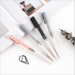 4 sztuk/zestaw Słodkie Długopisy Żelowe Kolorowe Tusz Kot Długopis świeże Kawaii Długopis Szkoła Canetas Boligrafos Dar Papeteri