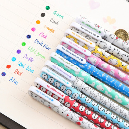 10 Sztuk/partia Kolor Pen Kawaii Długopis Boligrafos Długopisy Żelowe Canetas Escolar Śliczne Koreański Piśmienne Kawaii Śliczne