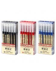 6 sztuk/partia MUJI Styl 0.35mm Gel Pen Czarny Niebieski Pióra Atramentu Ekspres Pen Szkoła Biuro student Egzamin Pisanie Biurow