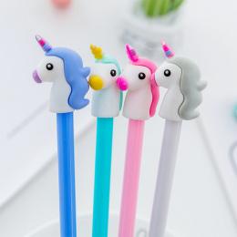 1 sztuk 4 kolory 0.5mm Kreatywny unicorn Długopis Żelowy Długopis Podpis Escolar Szkolne materiały biurowe Papelaria Dostaw Upom