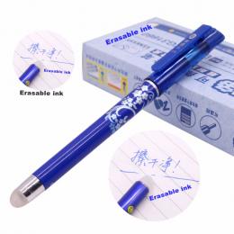 12 sztuk Magic Pen Kasowalna Gel Pen 0.5mm Końcówki Niebieskim Wkładem Uczeń Papiernicze Pisanie Długopis Hurtowa