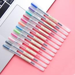12 sztuk/partia Gel Pen 0.5mm kolor Pióra Atramentu Ekspres Długopis Szkoły Biurowymi MUJI Styl 12 kolory