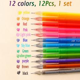 12 Sztuk/partia Słodkie Małe Świeże Cukierki Kolorowe Diamond head Color Gel Pen Kreatywny Prezent Szkolne Kolorowe Długopisy ku