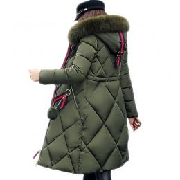 Duża futra płaszcz zimowy parka zagęszczony kobiety przeszycia slim długi płaszcz zimowy dół bawełna panie dół parka dół kurtki
