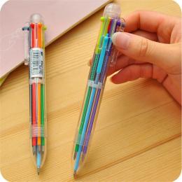 New Arrival 1 sztuk Nowością Wielokolorowy Długopis Wielofunkcyjny 6 In1 Kolorowe Biurowe Kreatywny Artykuły Szkolne