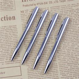 1 sztuk Mini Metal Trwała Długopis Obracanie kieszonkowe Długopis Przenośne Długopis Małe Długopis Oleju Wykwintne Pisania narzę