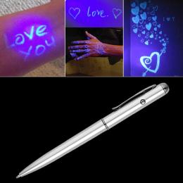 Twórczy Magia LED Światła UV Długopis z Invisible Ink Tajne Spy Pen Bibelot Na Prezenty Szkolne Materiały Biurowe
