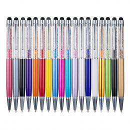 Metaliczny kryształ długopis biurowe papiernicze artykuły szkolne długopis ekran dotykowy pisma pojemnościowy diament ołówek dłu