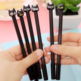 (1 sztuk/sprzedam) 0.7mm Śliczne Kawaii Czarna Głowa Kot Piłka Długopisy Długopis Dla Biura Pisania Szkoła Przybory Papiernicze