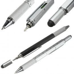 1 sztuk 6 kolory powieść Wielofunkcyjny Śrubokręt Długopis Ekran Dotykowy Metal Prezent Narzędzie Szkoła biurowy biurowe pen