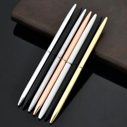 Kreatywny Slim Metal Długopis Vintage Złoty Srebrny Długopis Do Pisania Biznes Prezenty Biuro Szkolne Papiernicze