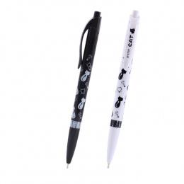 1 Pc Cute Czarny Biały Kot Długopis Kawaii 0.5mm Niebieski Biurowe Pen Dla Dzieci Szkoły Dostaw Estojo Escolar