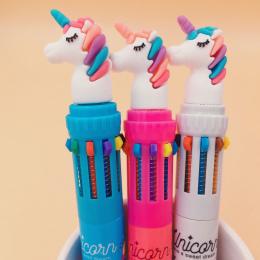 Dream Jednorożec 10 Kolory Chunky Długopis Szkoły Biurowymi Prezent Biurowe Papelaria Escolar
