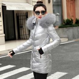 2018 Mody Watowe kurtka Kobiet Płaszcz Kobiety Zima Nowy Slim Warm Dół bawełna odzież Płaszcz Z Długim rękawem Kurtki Zimowe