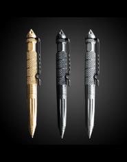 1 sztuk GENKKY Tactical pen wolframu stali obracanie unisex narzędzie pióro okno metalowy długopis wielofunkcyjny