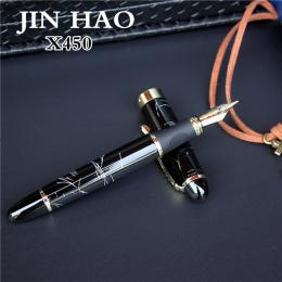 JINHAO X450 zaawansowane wieczne pióro 18 k GP Stalówka pióra atramentu 23 kolory mogą wybrać opakowań z czarny długopis etui ho