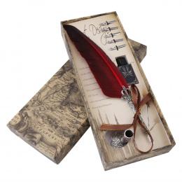 1 zestaw Angielski Kaligrafii Pióro Stalówka Pisania Atramentu Zestaw Papeterii Pudełko z 5 Nib Prezent Ślubny Quill Pen wieczne