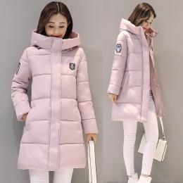 ŚNIEG PINNACLE 2018 Kobiety Parki Zima Kobieta Ciepłe Zagęścić Bliski Długi Slim kurtki Z Kapturem płaszcz Znosić Parki płaszcz