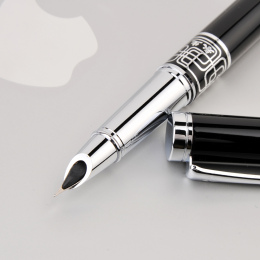 Wingsung Extra Fine Stalówka 0.38mm Pióro dla Finansów Luksus Metal Ink Długopisy Biurowe Szkolne Prezent Urodzinowy