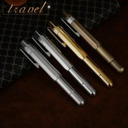 Wysokiej Jakości Vintage Brass Iraurita wieczne pióro full metal podróży kieszeni długopisy Caneta Piśmienne Biuro szkolne 1025