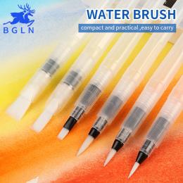 BGLN 3/6 Sztuk O Dużej Pojemności Barrel Wodnej Paint Brush Set Inny Kształt Miękkie Kaligrafia Malowanie Pędzlem Pióro do Rysow