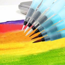6 SZTUK S/M/L Markery Artystyczne Akwarela Pędzla pióro Kaligrafii Pióro do Rysowania Początkujący Zbiornika Wody prezent