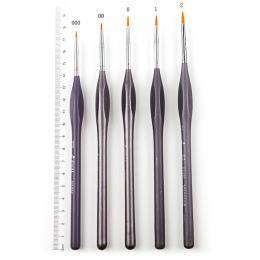 5 sztuk Szczegóły Paint Brush Set dla Miniaturowe Oleju Malowanie Rysowanie Liner Pen Brush Malarstwo Akwarela Akrylowe