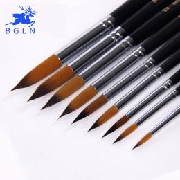 BGLN 9 sztuk Długim Uchwytem Nylonu Gwasz Akwarela Farby Pędzle Akrylowe Malarstwo Brush Pen pincel para pintura Dostaw Sztuki 8