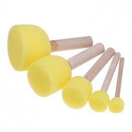 5 sztuk/zestaw Gąbka Pędzla Farba Zabawki Drewnianą Rączką Seal Gąbki Szczotki Dzieci Dzieci Rysunek Malowanie Graffiti, Narzędz