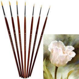 7 sztuk Profesjonalny Zestaw Pędzel Sable Hair Szczegóły 7 Miniaturowe Akrylowe Szczotki Do Paznokci Art Painting Rysunek Szczot