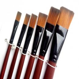 6 sztuk/zestaw Długopisy Artysty Pędzle Malarskie Malarz Studenci Akrylowe Pędzle Nylonowe