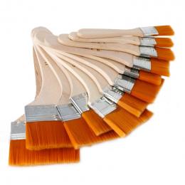 12 sztuk/zestaw Wysokiej jakości nylonu Mao Banshua artyści oil paint brush GRILL szczotka do malowania sztuki Łatwe Do Czyszcze