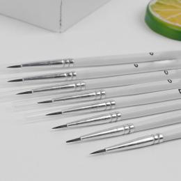 10 Sztuk/zestaw Punkt Wskazówka Nylon Linia Pióro do Rysowania Włókna Włosów Pędzel Artysty Cienkie Hak Długopis Dostaw Sztuki
