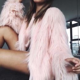 Naiveroo Furry Futro Kobiety Puszyste Ciepły Długi Rękaw Odzieży Kobiet Jesień Zima Płaszcz Kurtka Owłosione Kołnierzyka Płaszcz