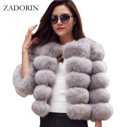 S-3XL Płaszcze Norek Kobiet 2018 Zima New Fashion Różowy FAUX Fur Coat Eleganckie Grube Ciepłe Kurtki Fałszywy Futro Kurtka Chaq