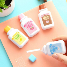 1 X Słodkie Mleko Taśmy Korekcyjnej Materiał Escolar Kawaii Biurowe Biuro Szkolne Papelaria 6 m