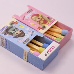 8 Mecze Gumka Sztuk/paczka Śliczne Kawaii Piękne Kolorowe Gumki dla Dzieci Studentów Dzieci Kreatywne Pozycja Prezent Darmowa wy