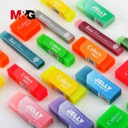 M & G 4 sztuk kawaii owoce gumki do szkoły akcesoria słodkie galaretki gumy do szkoły uczeń kolorowe ołówek gumka prezent dla dz